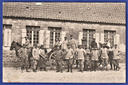 CARTE-PHOTO BULGARIE - Groupe De Staff Devant La Cuisine Roulante D'une Compagnie 1918 Troupes Françaises à SOFIA - WWI - Weltkrieg 1914-18