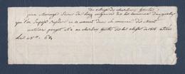 Recrutement Militaire Classe1818.J.Morange,Scieur De Long,né à La Claverie(Saint-Alyre).A.Pouget A Tiré Au Sort Le N°62. - Documentos