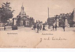 4819136Amsterdam, Muiderpoort. (poststempel 1901)(onder Een Klein Scheurtje) - Amsterdam