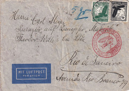 ALLEMAGNE 1936 PLI AERIEN DE OSNABRUCK POUR RIO - Storia Postale