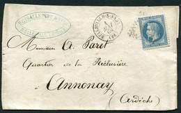 FRANCE ( OBLITERATION LOSANGE ) GC  433  Belleville-sur-Saône  Rhone (68) , A SAISIR .fra - 1849-1876: Klassieke Periode