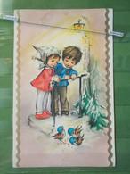 KOV 8-58 - New Year, Bonne Annee, Children, Enfant, Bird, Oiseau - New Year