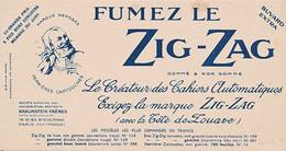 BUVARD - FUMEZ LE ZIG ZAG (zouave) - Tobacco