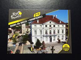 TOUR DE FRANCE 2020 - PANINI - No. T41 - BOURG-EN-BRESSE CHAMPAGNOLE - French Edition