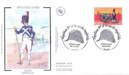 Enveloppe 1er Jour, Personnages Célèbres, Napoléon Et La Garde Impériale, Artilleur à Pied, 2004, (yt 3680) - 2000-2009