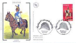 Enveloppe 1er Jour, Personnages Célèbres, Napoléon Et La Garde Impériale, Dragon, 2004, (yt 3681) - 2000-2009