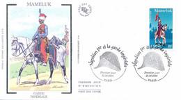 Enveloppe 1er Jour, Personnages Célèbres, Napoléon Et La Garde Impériale, Mameluk, 2004, (yt 3682) - 2000-2009