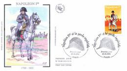 Enveloppe 1er Jour, Personnages Célèbres, Napoléon Et La Garde Impériale, Napoléon 1er, 2004, (yt 3683) - 2000-2009
