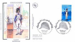 Enveloppe 1er Jour, Personnages Célèbres, Napoléon Et La Garde Impériale, Grenadier, 2004, (yt 3684) - 2000-2009