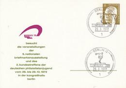 BPP 45/3 Berlin 72 Besucht Die Veranstaltungen Der 5.nationalen Briefmarkenausstellung, Berlin 12 - Postales Privados - Usados
