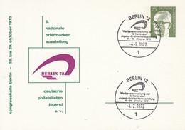 BPP 47/3 Berlin 72   5 Nationale Briefmarken Asustellung Deutsche Philatelisten Jugend E.v., Berlin 12 - Postales Privados - Usados