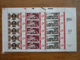 Volledig Vel 't Ordinaaltje, 30 Jaar Kantcentrum Bonheiden (persoonlijke Zegels - Duostamp) - Personalisierte Briefmarken