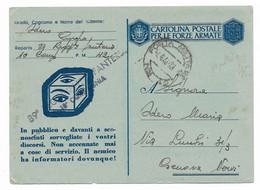 DA P.M. 42 ( ITALIA ) A GENOVA NERVI - 4.8.1943 - P.7 - ULTIMO PERIODO. - Militaire Post (PM)
