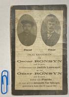 GEËXECUTEERD † 1917 AALST - Oscar & Omer Ronsyn - Moordenaars Duits Soldaat Terechtgesteld - Tir - SCHIETBAAN - WO - Andachtsbilder
