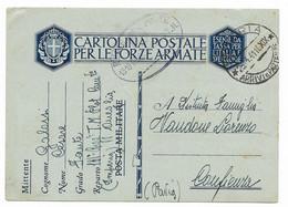 DA ONEGLIA A CONFIENZA - 25.4.1941 - Military Mail (PM)
