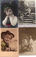 DC1888 - Ak Schönes Lot Motivkarten Kinder Jungen Und Mädchen 4 Karten - Grupo De Niños Y Familias