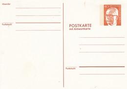 BPP 60/1**   Postkarte Nit Antwortkarte 40 + 40 Pf Bundespräsident Heinemann - Postales Privados - Nuevos