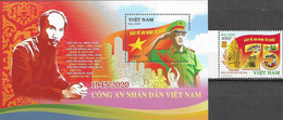 VIETNAM, 2020, MNH,SECURITY FORCES, POLICE, MILITARY, HO CHI MIHN,1v+S/SHEET - Polizia – Gendarmeria