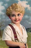 DC5324 - Ak Schöne Motivkarte Kleines Kind Rote Lippen Locken - Retratos