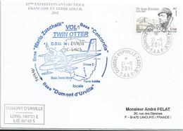 YT 557 Dr Rivolier - Transport Par Avion Twin Otter - Dumont D'Urville - Terre Adélie - 21/11/2011 - Cartas