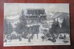 Les Avants En Hiver - Grand Hotel Un Jour De Course De Luge Ou De Ski, L'Arrivée (Finish) - Vaud - VD Waadt