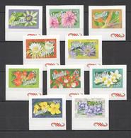 S1097 VANUATU FLORA FLOWERS MICHEL 32 EURO !!! SELF-ADHESIVE #1284-93 1SET MNH - Other