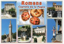 26 ROMANS Capitale De La Pogne, Multi Vues - D 644070 Editions CELLARD - TBE - Romans Sur Isere