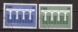 Irlande - Ireland - Irland 1984 Y&T N°541 à 542 - Michel N°538 à 539 (o) - EUROPA - Usati