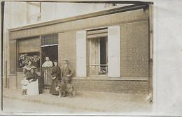 DEMAUREY L. - BOUCHERIE CHARCUTERIE - BOUCHER ET SA FAMILLE - CARTE PHOTO LIEU A IDENTIFIER - Shops