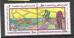 UAE Set  Mnh **  1988 Seoul Olympics Swimming Cycling 6 Euros - Emiratos Árabes Unidos