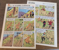 HERGE TINTIN Le Sceptre D' Ottokar En Syldavie 2 Pages Version Originale - Verzamelingen