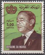 Maroc 1983 Michel 1015 O Cote (2005) 0.80 Euro Roi Hassan II Année 1995 - Maroc (1956-...)