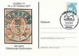BPP 79/5  OLBRIA'77 15 U.16.Oktober 1977 - 125 Jahre Oldenburger Briefmarken, Oldenburg OLDB 1 - Private Postcards - Used