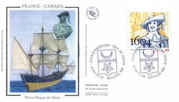 Enveloppe 1er Jour, 400e Anniversaire Fondation La Colonie De L'île De Ste Croix Par Pierre Dugua De Mons, 2004 (yt2086) - 2001-2010