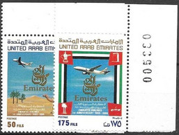 UAE Complete Set  Mnh **  1986 6 Euros Emirates Airline - Emiratos Árabes Unidos