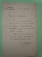 Lettre Autographe Valentin ABEILLE (1843-1902) DEPUTE De HAUTE GARONNE - Autographs