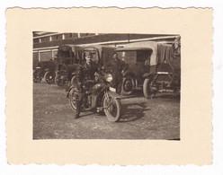MOTOCICLETTA NON IDENTIFICATA - MILITARE -  MOTO - MOTORCYCLE - FOTO ORIGINALE - Automobili