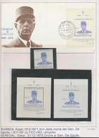 037 Charles De Gaulle - Neuf ** MNH Rwanda (rwandaise) Bf 23 + Non Dentelé (imperforate) + Lettre (cover Briefe) - De Gaulle (Generale)