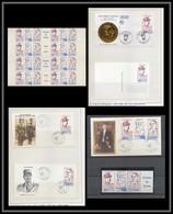 110 Charles De Gaulle - Neuf ** MNH Saint Pierre Et Miquelon N° Yvert 532A Feuilles (sheets) + Carte Maximum (card) ... - De Gaulle (Generale)