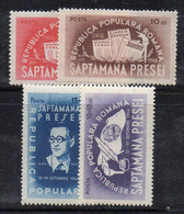 KS15B - ROMANIA 1948 , Serie Yvert N. 1059/1062  *  Stampa - Nuovi