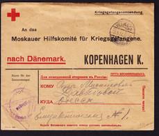 1917 Kriegsgefangenen Post. Rotes Kreuz Dänemark. Brief Aus Villingen Nach Odessa. - Briefe U. Dokumente