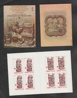 FRANCE / 1980 / Y&T N° 2116a/2117a ** : Croix-Rouge (Cathédrale D'Amiens - 2 TP) X 4 Paires = Carnet CR 2029 - Cruz Roja