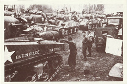 CARTE POSTALE 10CM/15CM : LES DIVISIONS BLINDEES JUIN 1944 SE PREPARANT APRES LE DEBARQUEMENT EN FRANCE  CALVADOS (14) - Oorlog 1939-45