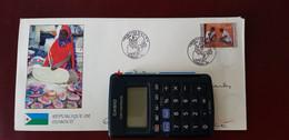 Oblitération Illustrée Fermeture Bureau Postal Militaire Bureau Postal Interarmées 610 Djibouti 2014 - Handstempels