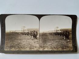 PHOTO STÉRÉO Militaria - 1903 - Infanterie Japonaise - Ed. Perfect Stereograph. BE. - Stereoscopio
