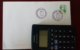 Fermeture Bureau Postal Militaire Bureau Postal Interarmées 627   8/8/2014 - Handstempels