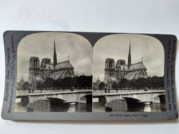 PHOTO STÉRÉO  Notre Dame De Paris - Ed. Keystone - Parfait Etat - Stereoscopio