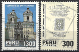 Peru 1985. Mi.Nr. 1307-1308, Used O - Peru