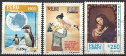 Peru 1985. Mi.Nr. 1310-1312, Used O - Peru