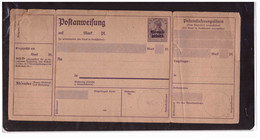 """TEM12811  -    """"  MEMELGEBIET """"  - NEW  ENTIRE  """"POSTANWEISUNG  -  MICHEL NR.  A.1 - Ocupación 1914 – 18"""